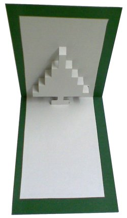 8bit cristmastree popup card